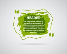 Quote blank templates. Watercolor, ink, splash Quote bubble. Empty template Stock Illustration