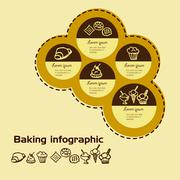 Stock Illustration of sweetness and baking infographic Doodle