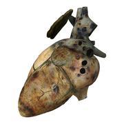 Sick Human Heart Stock Illustration