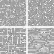 Set of seamless patterns backgrounds. Vector illustration Stock Illustration