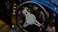 Closeup of details classic car - stock photo