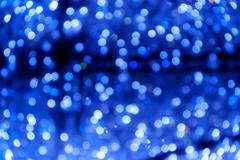 Defocused city night blurred lights - stock photo