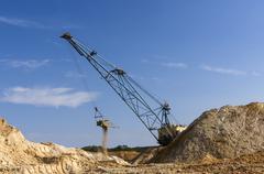 big dipper dragline excavator - stock photo