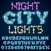 Night lights - stock illustration