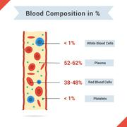Composition of whole blood - stock illustration
