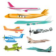 Civil aviation travel passanger air plane vector illustration - stock illustration