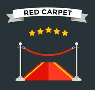 Stock Illustration of VIP zone red carpet illustration