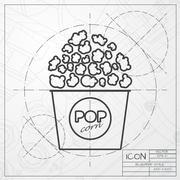 Vector pop corn icon Piirros