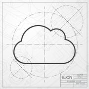 Vector cloud icon - stock illustration