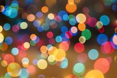 Abstract circular bokeh background of Christmas lights.. Stock Photos