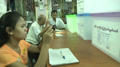 Burma Election Vote Counting Stock Footage