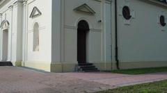 Church of St. Stanislaus in Zbuczyn, Poland Stock Footage