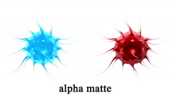 Virus, bacteria , infection. Isolate. Alpha matte include Stock Footage