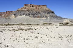 Stock Photo of Table Mountain Factory Butte Caineville Utah United States North America