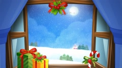 Snowy day at Christmas and New Year_3 Stock Footage