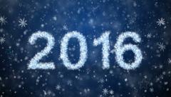 Inscription 2016 Stock Footage