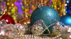 Christmas decorations / background / loop Stock Footage