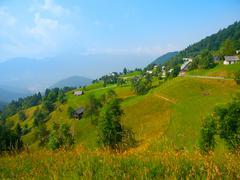 Alpine landscape in Slovenia Stock Photos