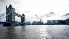 River Thames time lapse from the Shard to Tower Bridge Stock Footage