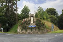 Sculpture of Ave Maria at the crossroads - stock photo