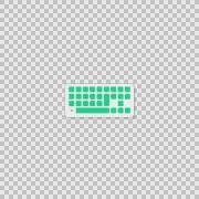 I Keyboard Alpha whiteboard illustration animation doodle hand drawn  Stock Footage