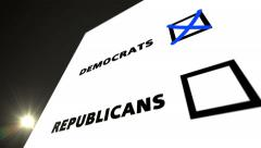 Vote DEMOCRATS Stock Footage