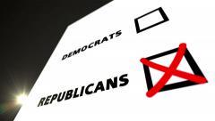 Vote REPUBLICANS Stock Footage