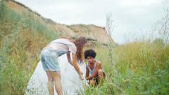 Young people enjoy outdoor activities Stock Footage