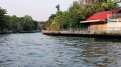 Scenic Bangkok waterway Stock Footage