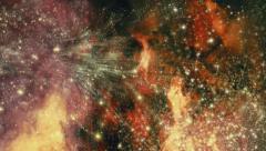 Traveling through star fields in deep space - Star Warp 028 HD, 4K Stock Footage