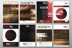 Business templates for brochure, flyer or booklet. Night city landscape - stock illustration