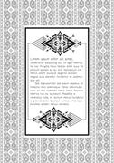 Ethnic pattern with quote blank template on it. Ukrainian folk art. Traditional Stock Illustration