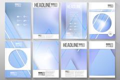 Stock Illustration of Set of business templates for brochure, flyer or booklet. Winter design