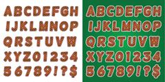 Stock Illustration of Christmas Candy Cane Green Alphabet Letters and Numbers