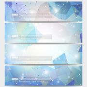Set of modern vector banners. Abstract multicolored background. Scientific Stock Illustration