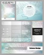 Stock Illustration of Set of business templates for presentation, brochure, flyer or booklet. Abstract