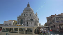 Cathedral Santa Maria della Salute in Venice Stock Footage