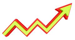 Growth progress arrow. Isolated on white background Stock Illustration