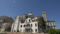 Church of St. Jeremiah dome and Palazzo Labia, Venice Stock Footage