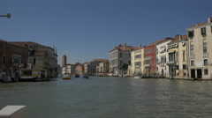 Boats on Canal Grande, Venice - stock footage