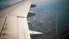 Italian landscape from aircraft window Stock Footage