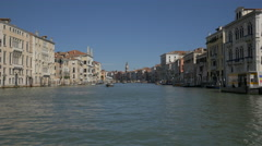 Grand Canal with Aman hotel and other buildings in Venice Stock Footage