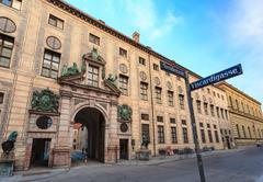 Famous Residenz Street of Munich - Bavaria - Germany Stock Photos