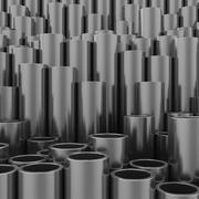 Stack of steel pipes - stock illustration