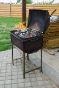 Brazier with a cover Stock Photos