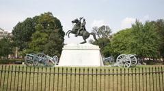 Statue in Lafayette Park, Washington, D.C. - stock footage
