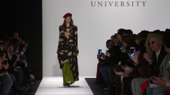 Academy of Art Fashion Show Fall 2015 Collection NYFW 01 Stock Footage