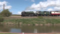 BR Steam Locomotive Britannia Stock Footage