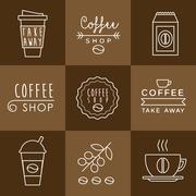 Stock Illustration of Coffee design set