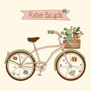 Retro bicycle. Vector illustration Stock Illustration